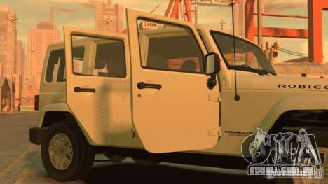 Jeep Wrangler Unlimited Rubicon 2013 para GTA 4 esquerda vista
