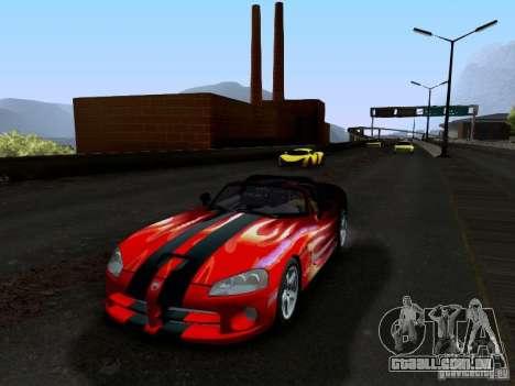 Dodge Viper SRT-10 Custom para GTA San Andreas vista inferior