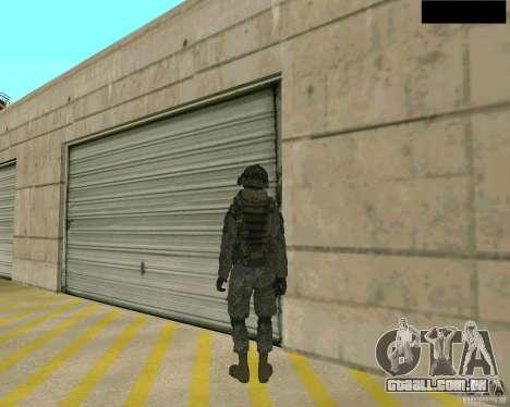 Pele do soldado de CODMW 2 para GTA San Andreas terceira tela