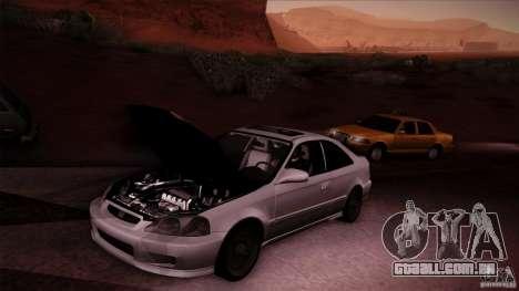 Honda Civic Coupe Si Coupe 1999 para GTA San Andreas vista traseira
