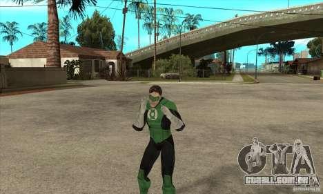 Green Lantern para GTA San Andreas quinto tela