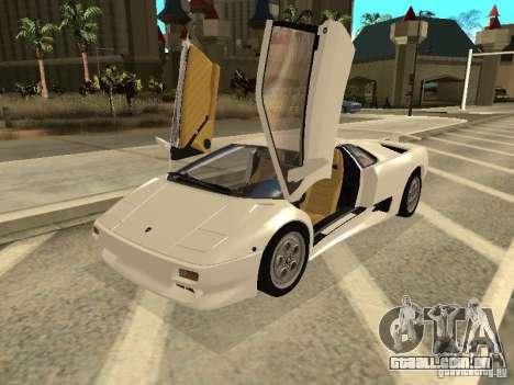 Lamborghini Diablo VT 1995 V2.0 para GTA San Andreas esquerda vista