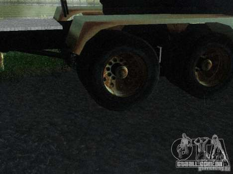 Armored Mack Titan Fuel Truck para GTA San Andreas vista traseira