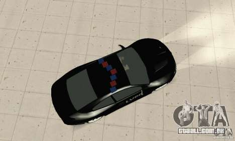 Pontiac GTO 2004 Cop para GTA San Andreas traseira esquerda vista