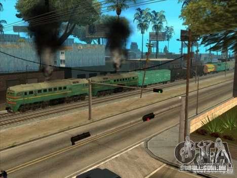 Estados bálticos locomotiva frete ferroviário im para GTA San Andreas vista traseira