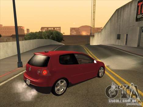 VW Golf Mk5 GTi - Stock: Tunable para GTA San Andreas vista direita