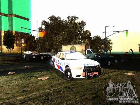 Dodge Charger 2011 Toronto Police para GTA San Andreas vista traseira