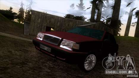 Volvo 850 Final Version para GTA San Andreas vista superior