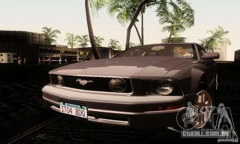 Ford Mustang GT Tunable para GTA San Andreas traseira esquerda vista