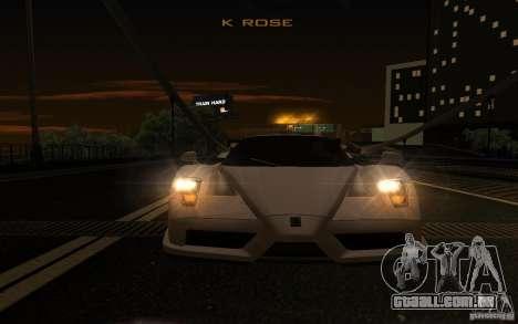 Ferrari Enzo ImVehFt para vista lateral GTA San Andreas