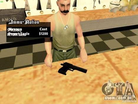 Desert Eagle MW3 para GTA San Andreas segunda tela
