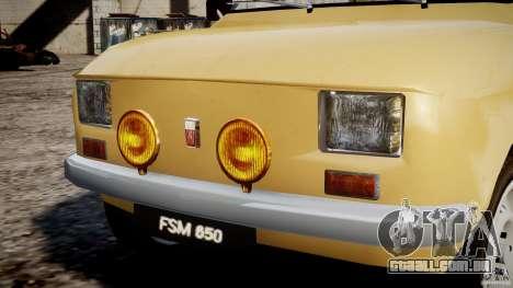 Fiat 126p 1976 para GTA 4 motor