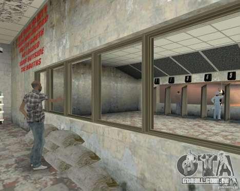 Uma movimentada loja Ammu-Nation v3 (Final) para GTA San Andreas por diante tela