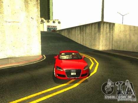 Audi TT 2009 v2.0 para GTA San Andreas vista superior