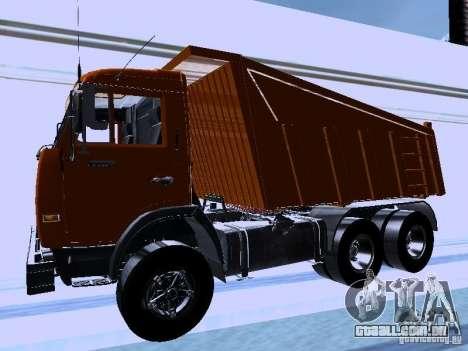 KAMAZ 54115 caminhão para GTA San Andreas esquerda vista