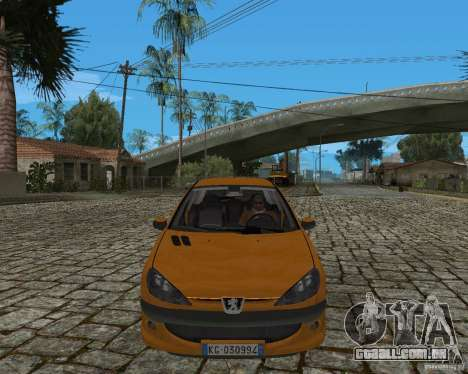 Peugeot 306 para GTA San Andreas traseira esquerda vista