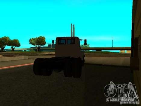 Trator de GAZ 3309 para GTA San Andreas traseira esquerda vista