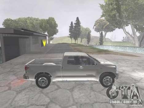 Toyota Tundra para GTA San Andreas vista direita