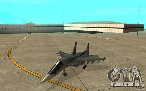 O Su-34 para GTA San Andreas esquerda vista