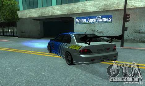 Mitsubishi Lancer Evo 8 Tunable para GTA San Andreas vista interior