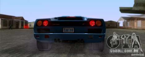 Lamborghini Diablo SV V1.0 para GTA San Andreas vista traseira