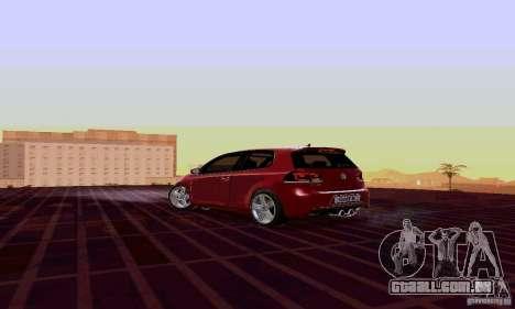 Volkswagen Golf GTI 2011 para GTA San Andreas esquerda vista