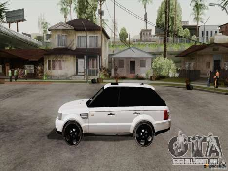 Range Rover Tuning para GTA San Andreas vista direita