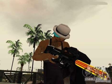 Black and Yellow weapons para GTA San Andreas quinto tela