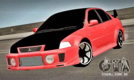 Mitsubishi Lancer Evolution 6 para GTA San Andreas vista direita