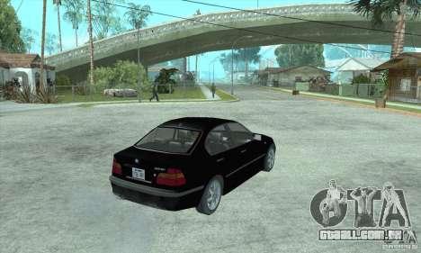 BMW 325i para GTA San Andreas esquerda vista