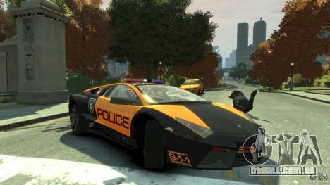 Lamborghini Reventon Police Hot Pursuit para GTA 4