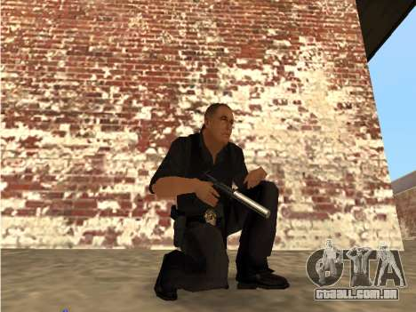 Chrome and Blue Weapons Pack para GTA San Andreas