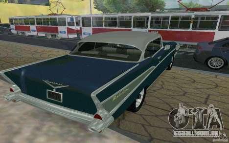 Chevrolet Bel Air 1957 para GTA San Andreas vista direita