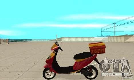 GTAIV Pizzaboy para GTA San Andreas esquerda vista