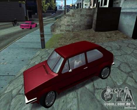 Volkswagen Golf MK 1 GTI para GTA San Andreas esquerda vista