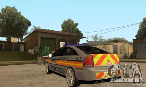 Opel Vectra 2009 Metropolitan Police para GTA San Andreas traseira esquerda vista