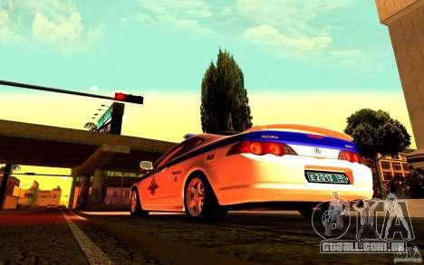 Acura RSX-S polícia para GTA San Andreas vista direita