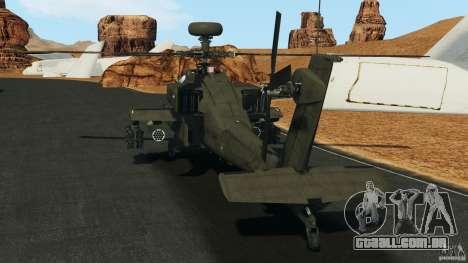 Boeing AH-64 Longbow Apache v1.1 para GTA 4 traseira esquerda vista