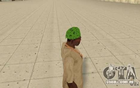 Bandana verde maryshuana para GTA San Andreas segunda tela