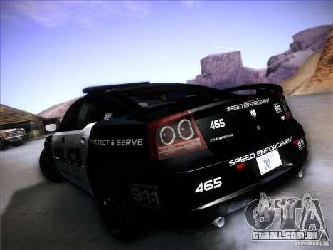 Dodge Charger RT Police Speed Enforcement para GTA San Andreas vista direita