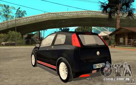 Fiat Grande Punto 3.0 Abarth para GTA San Andreas traseira esquerda vista