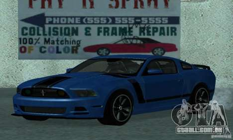 Ford Mustang Boss 302 2013 para GTA San Andreas esquerda vista