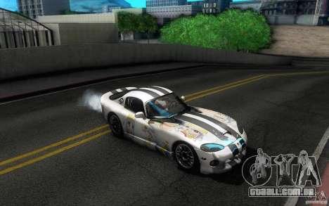 Dodge Viper GTS Coupe TT Black Revel para GTA San Andreas interior
