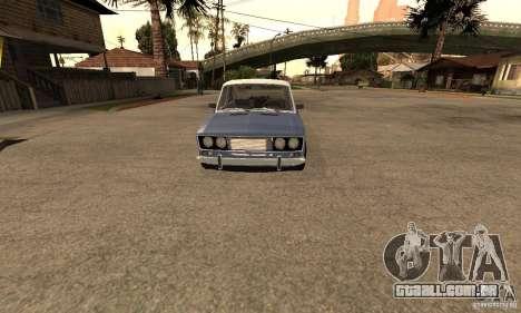 2106 VAZ velho v 2.0 para GTA San Andreas vista interior