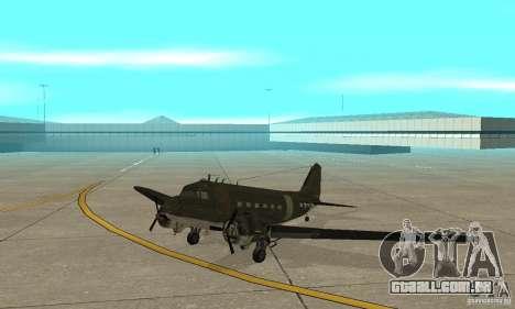 C-47 Skytrain para GTA San Andreas esquerda vista