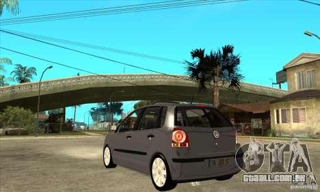 Volkswagen Polo 2008 para GTA San Andreas traseira esquerda vista
