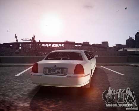 Lincoln Town Car Limousine para GTA 4 esquerda vista