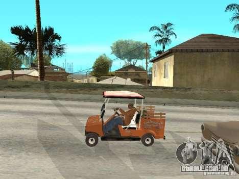 Golfcart caddy para GTA San Andreas vista direita