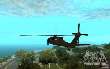 MH-60L Blackhawk para GTA San Andreas esquerda vista