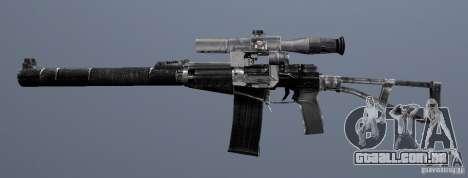 Como o Rifle de assalto do Val para GTA San Andreas por diante tela